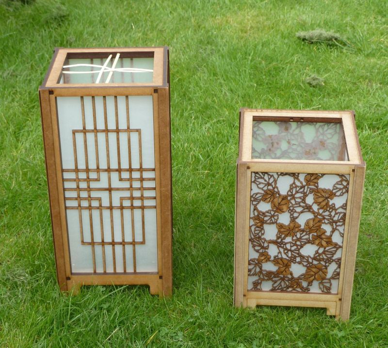 Japanese box lanterns